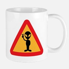 Space Alien Sign Mug