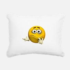 Confused Emoticon Rectangular Canvas Pillow