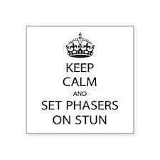 Keep Calm Phaser Stun Sticker