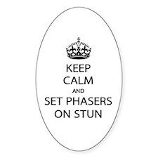 Keep Calm Phaser Stun Decal