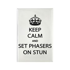 Keep Calm Phaser Stun Rectangle Magnet