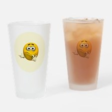 Confused Emoticon Drinking Glass