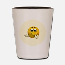 Confused Emoticon Shot Glass