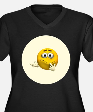 Confused Emoticon Plus Size T-Shirt
