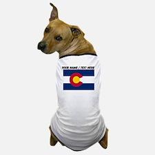 Custom Colorado State Flag Dog T-Shirt
