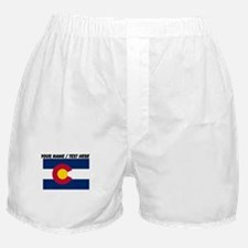 Custom Colorado State Flag Boxer Shorts