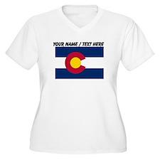 Custom Colorado State Flag Plus Size T-Shirt