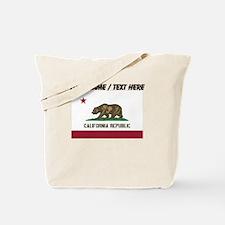 Custom California State Flag Tote Bag
