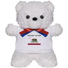 Custom California State Flag Teddy Bear