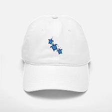 Blue Hibiscus Honu Turtles Baseball Baseball Baseball Cap