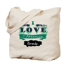 I Love Marcia Brady Tote Bag