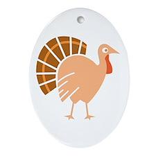 Fanny Turkey Oval Ornament
