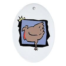 Framed Gobbler Oval Ornament