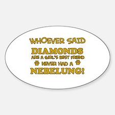 Funny Nebelung designs Sticker (Oval)
