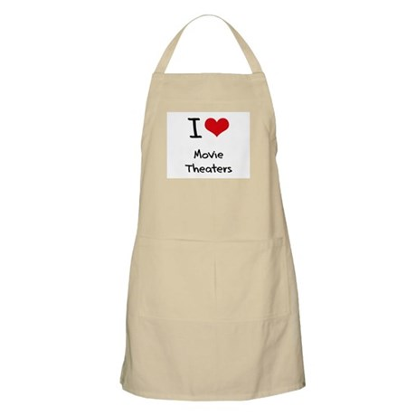 I Love Movie Theaters Apron