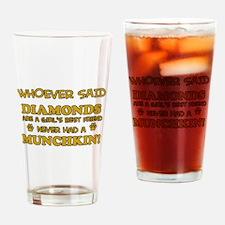 Funny Munchkin designs Drinking Glass