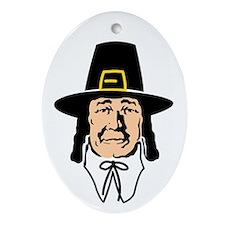 Pilgrim Father Oval Ornament