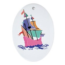 Mayflower Colors Oval Ornament