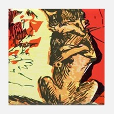 Grumpy Mr Fox Tile Coaster