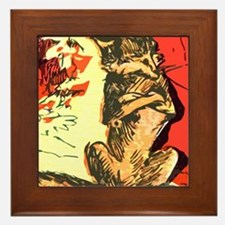 Grumpy Mr Fox Framed Tile