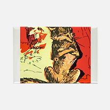 Grumpy Mr Fox Rectangle Magnet
