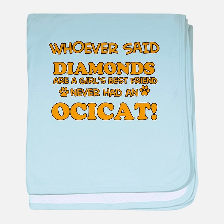 Funny Ocicat designs baby blanket