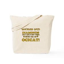 Funny Ocicat designs Tote Bag