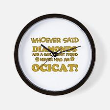 Funny Ocicat designs Wall Clock