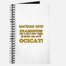 Funny Ocicat designs Journal