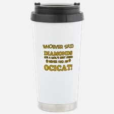 Funny Ocicat designs Travel Mug