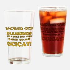 Funny Ocicat designs Drinking Glass