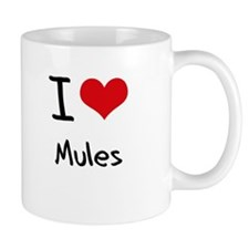 I Love Mules Small Mug
