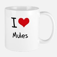 I Love Mules Small Small Mug
