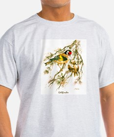 """Birds and Young """"Goldfinches"""" Peter Bere Design T-"""