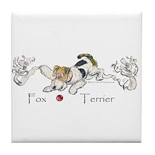 Playful Fox Terrier Tile Coaster