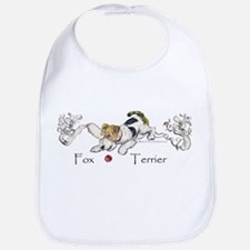 Playful Fox Terrier Bib