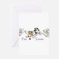 Playful Fox Terrier Greeting Cards (Pk of 10)