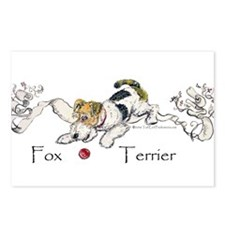 Playful Fox Terrier Postcards (Package of 8)