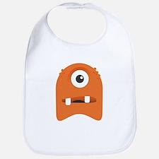 Orange Cyclops Blob Bib