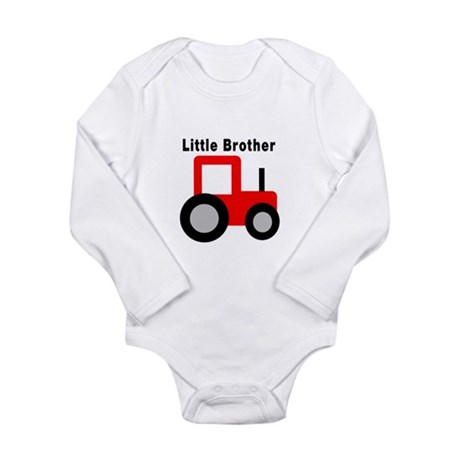 Little Brother Red Tractor Body Suit