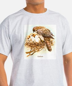 """Birds and Young """"Goshawks"""" Peter Bere Design T-Shi"""
