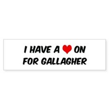 Heart on for Gallagher Bumper Bumper Sticker