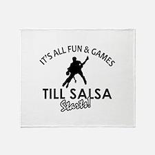 Salsa gear and merchandise Throw Blanket