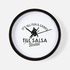 Salsa gear and merchandise Wall Clock
