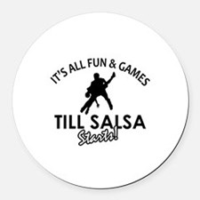 Salsa gear and merchandise Round Car Magnet