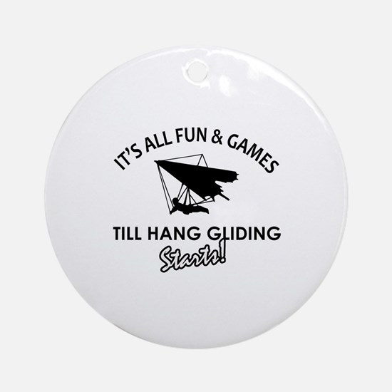 Hang Gliding gear and merchandise Ornament (Round)