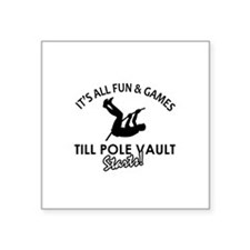Pole Vault gear and merchandise Square Sticker 3""
