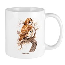 "Birds and Young ""Tawny Owls"" Peter Bere Design Mug"