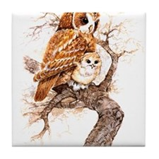 """Birds and Young """"Tawny Owls"""" Peter Bere Design Til"""