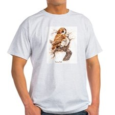 """Birds and Young """"Tawny Owls"""" Peter Bere Design T-S"""